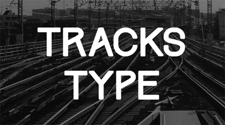 Tracks free fonts download